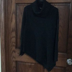 Simply Vera black cable knit turtleneck
